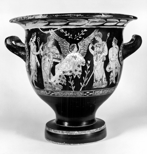 Bell Krater with Scenes of Eros and Standing Youth
