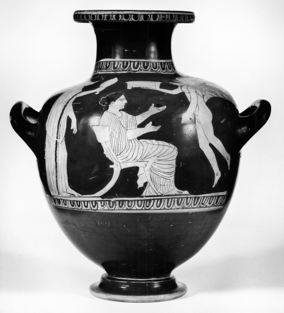 Kalpis with Toilette Scene with Two Women and Eros