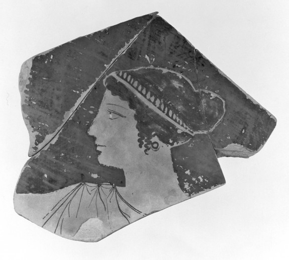 Vase Fragment with Head of a Woman in Profile