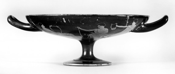 Kylix with Woman and Music Lesson