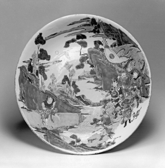 Dish with Scene of Warriors