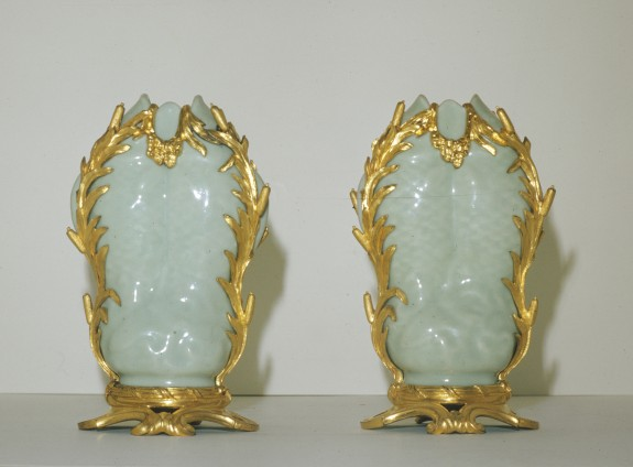Pair of Vases in the Shape of Twin Fish