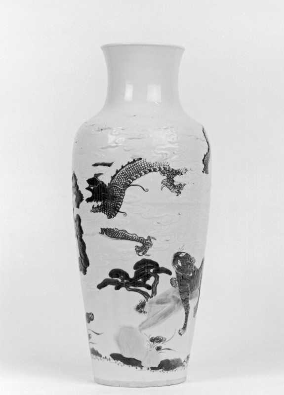 Vase with Tiger and Dragon