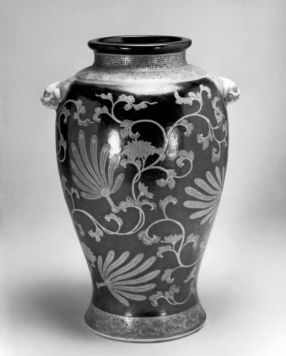 Vase with Feather Fans