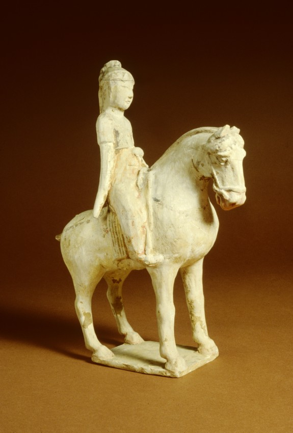 Pair of Sculptures: Women on Horseback