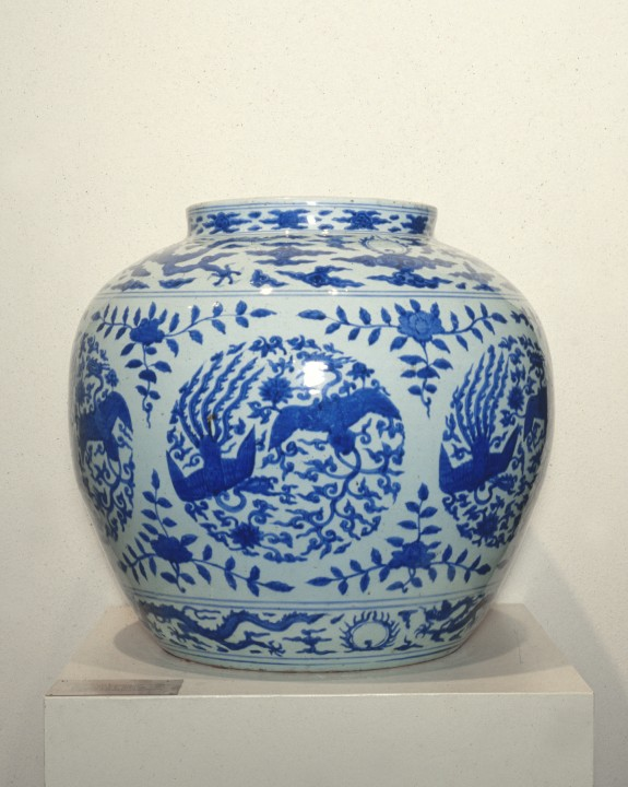 Wine Jar with Phoenixes and Dragons