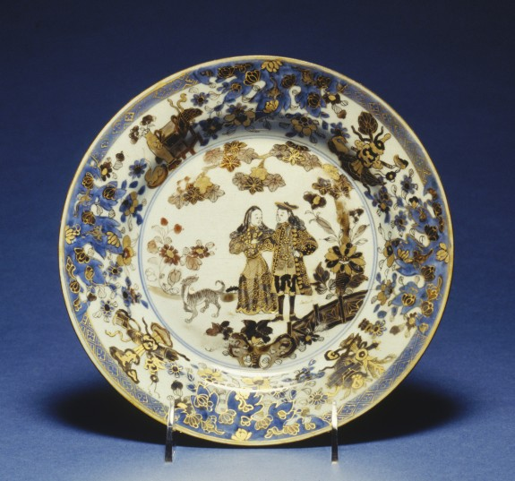 Plate with Dutch Couple