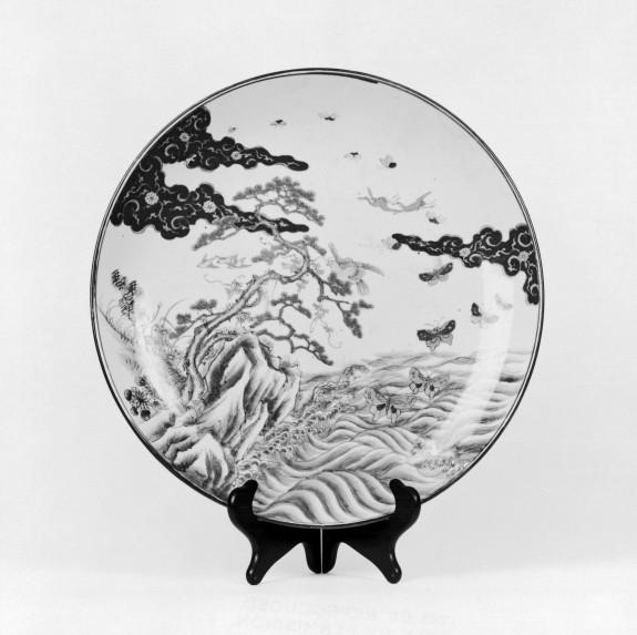 Dish with a Coastal Landscape Scene
