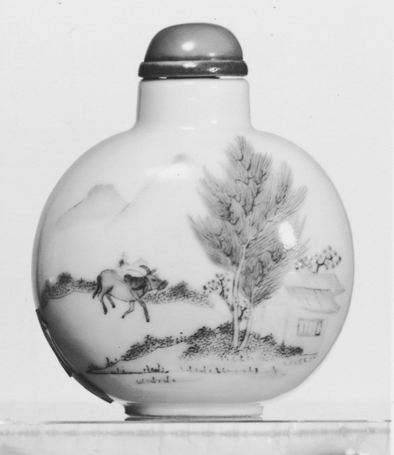 Snuff Bottle with Ox Herder Returning Home