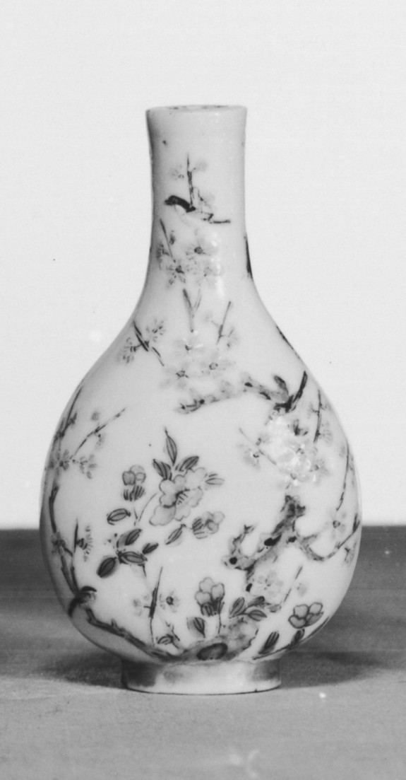 Snuff Bottle with Deer, Monkey, Birds, Trees and Flowers