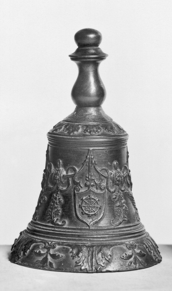 Hand Bell with Two Shields