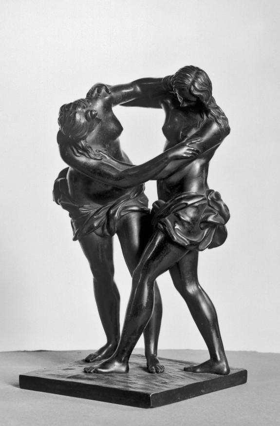 Two Women Wrestling