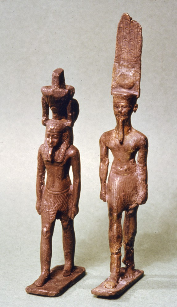 Pendants in the Shape of Amun-Re and Nefertem
