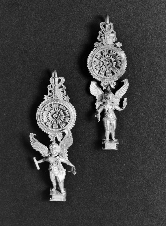 Pair of Earrings with Eros