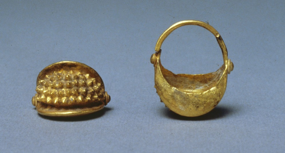 Pair of Basket-Shaped Hair Ornaments