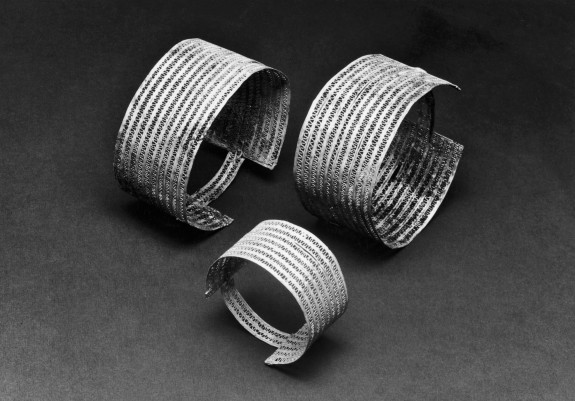 Group of Bracelets with Open Rows of Wire