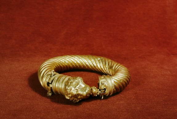 Bracelet with Lion's Head with an Apple in Its Mouth