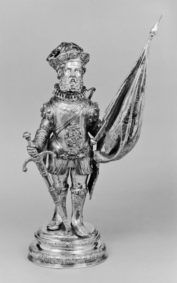 Drinking Cup in the Form of a Standard Bearer