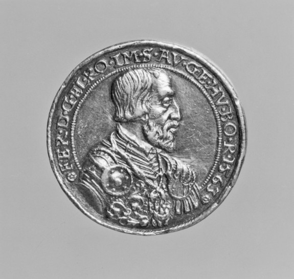 Medal of Maximilian (1527-76) as King of Hungary and his Wife Maria of Spain