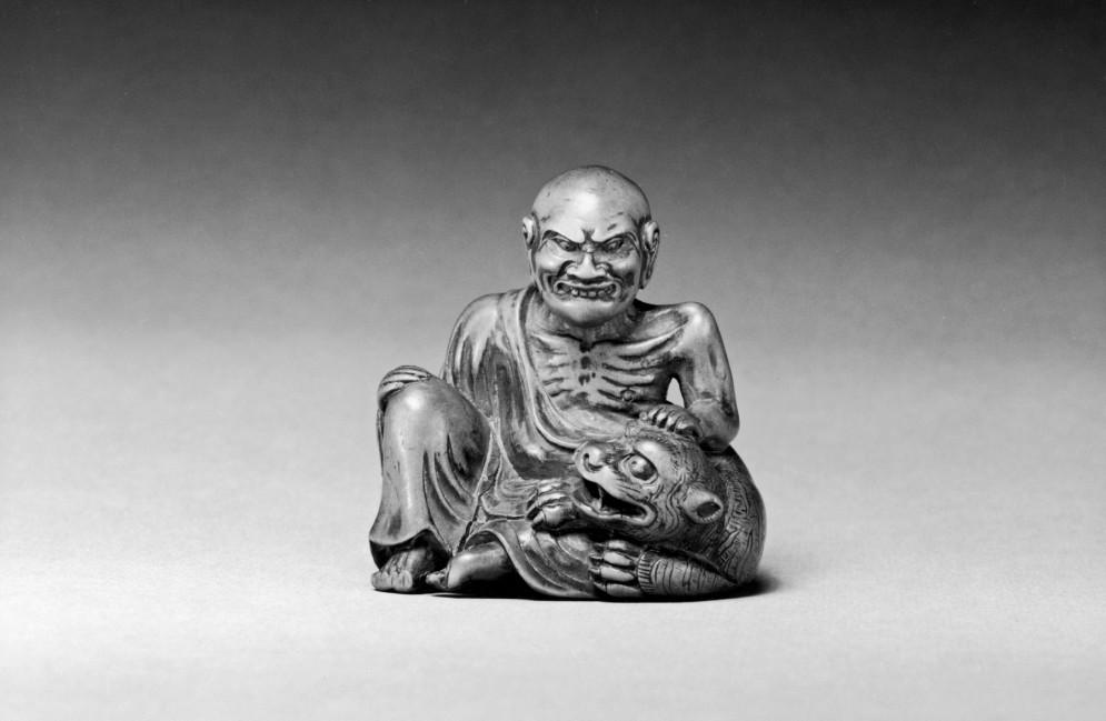Zen Master Bukan with His Tamed Tiger