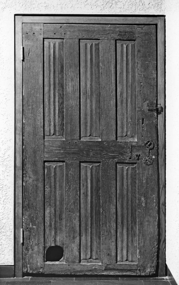 Door with Cat Hole