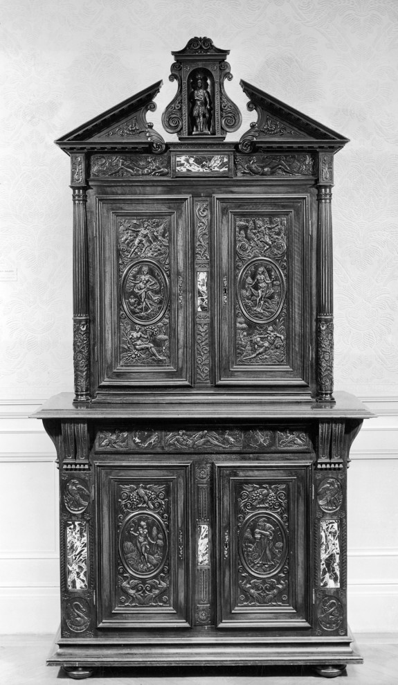 Bottom Section of Cabinet with Allegorical Figures of the Seasons