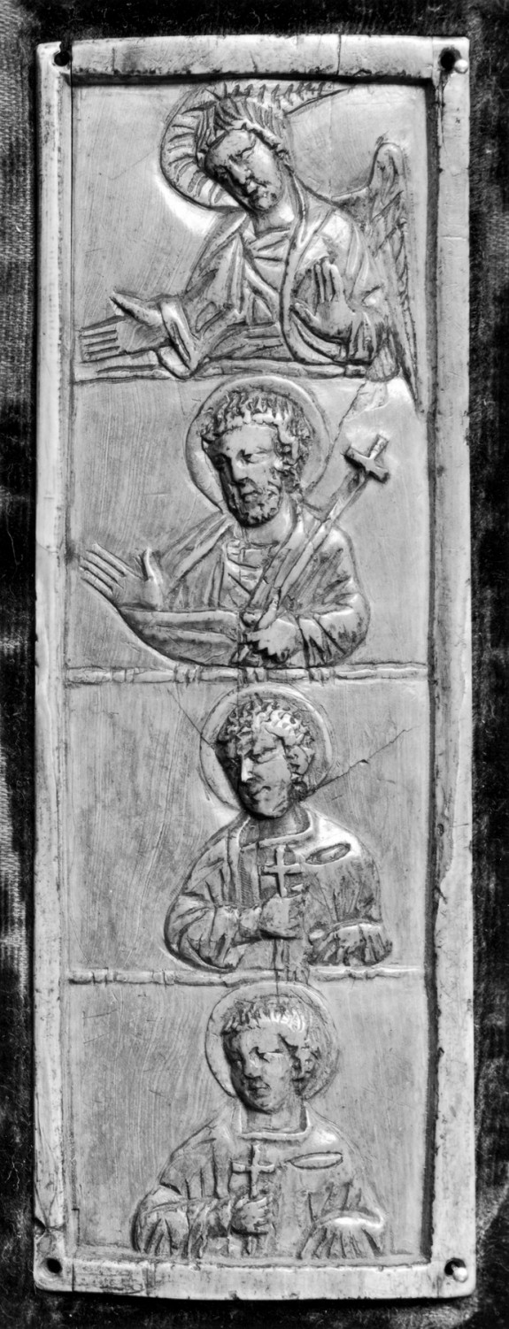 Triptych Wing with an Angel and Saints