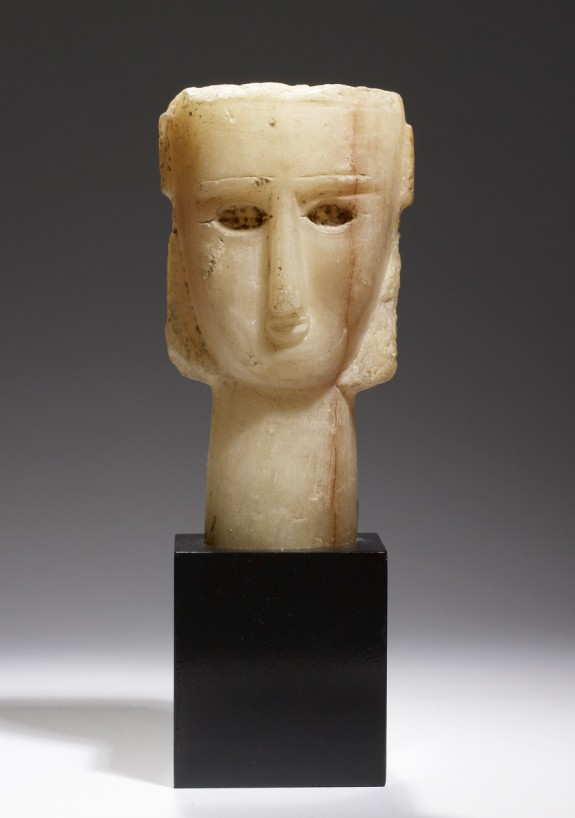 Head of a Woman with U-Shaped Face