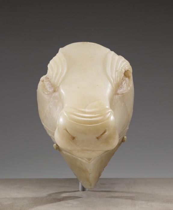 Head of a Large Bull Figure