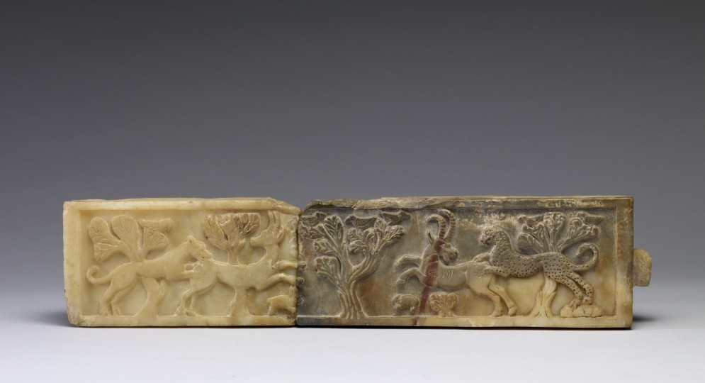 Frieze with a Lion and a Leopard Attacking Animals