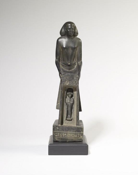 Nes-Ptah Holding Shrine with Osiris