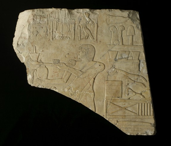 Relief Fragment Showing a Priest with an Incense Burner