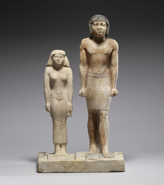 Statue Group of Nen-kheft-ka and His Wife, Nefer-shemes
