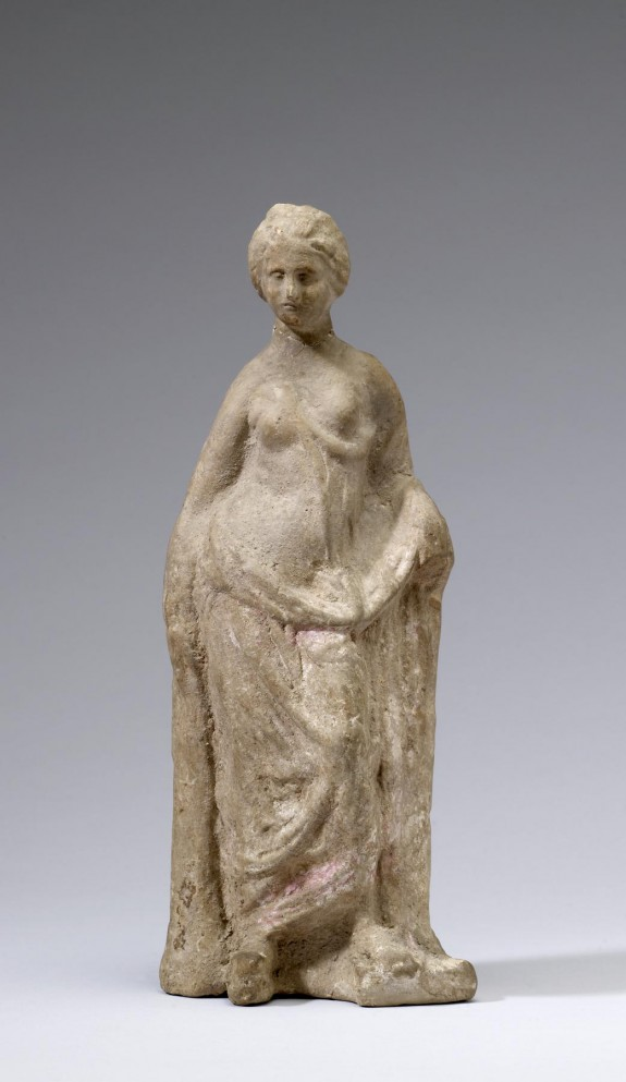 Standing Partially Draped Woman