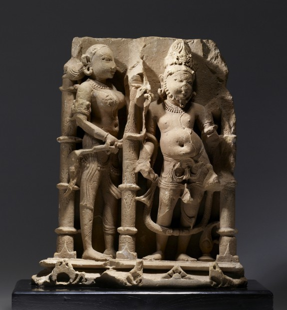 Agni with Celestial Attendant