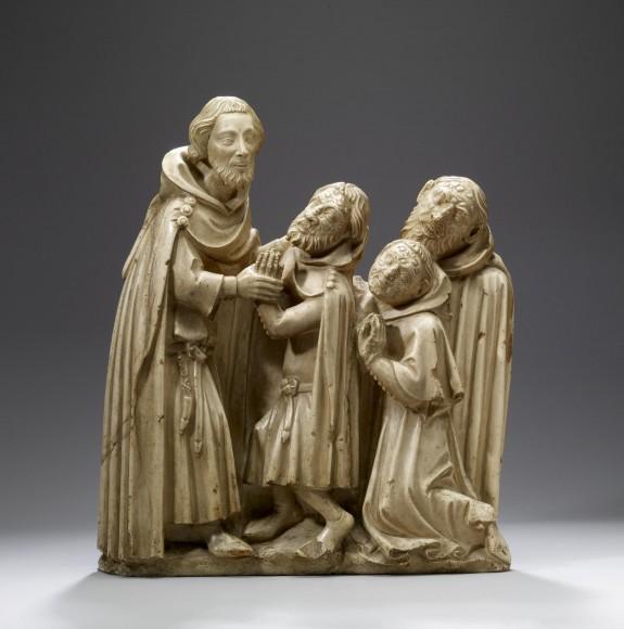 Saint Elzéar Curing the Lepers
