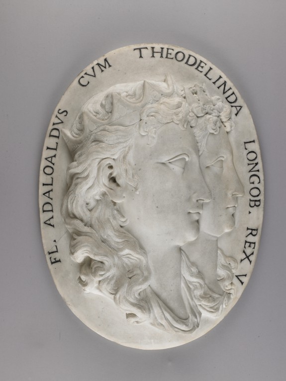 Medallion with Portraits of Flavius Adaloald, King of Italy, and his Mother Queen Theolinda