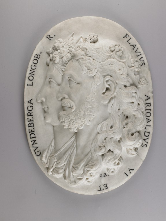 Medallion with Portraits of Flavius Arioald, Lombard King of Italy and his Wife Gundiberga
