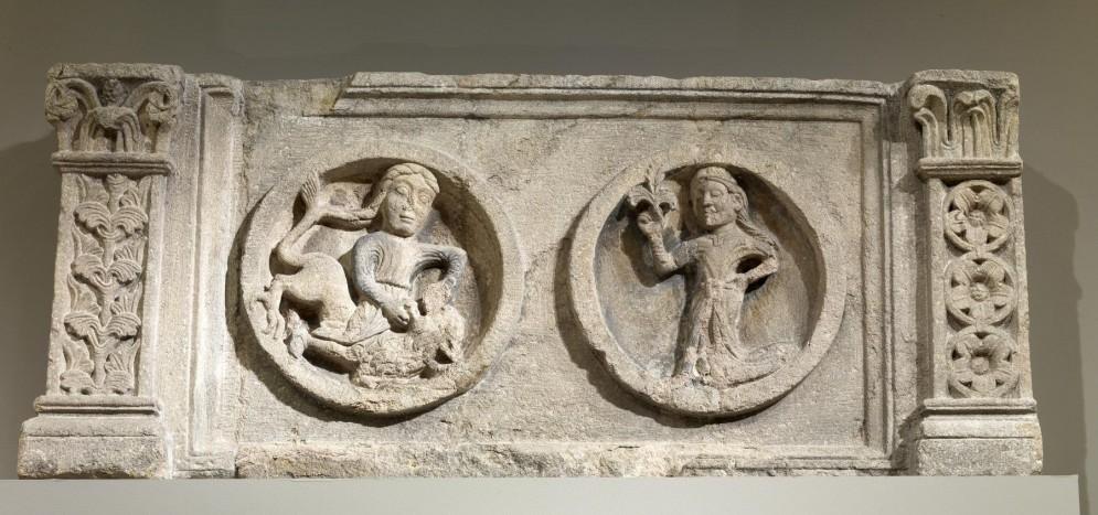 Lintel with Samson and Delilah