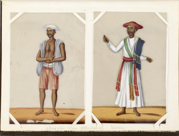 Leaf from Bound Collection of Twenty Miniatures Depicting Village Life