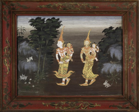 Vessantara Jataka, Chapter 4: Vessantara, Maddi, Jali, and Kanha Enter the Forest