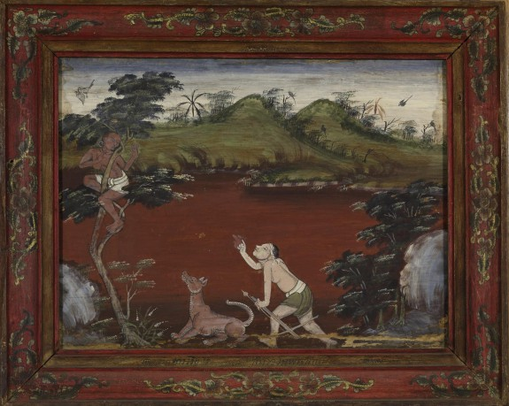 Vessantara Jataka, Chapter 5: The Woodsman Cataputta's Dogs Send Jujaka Up a Tree