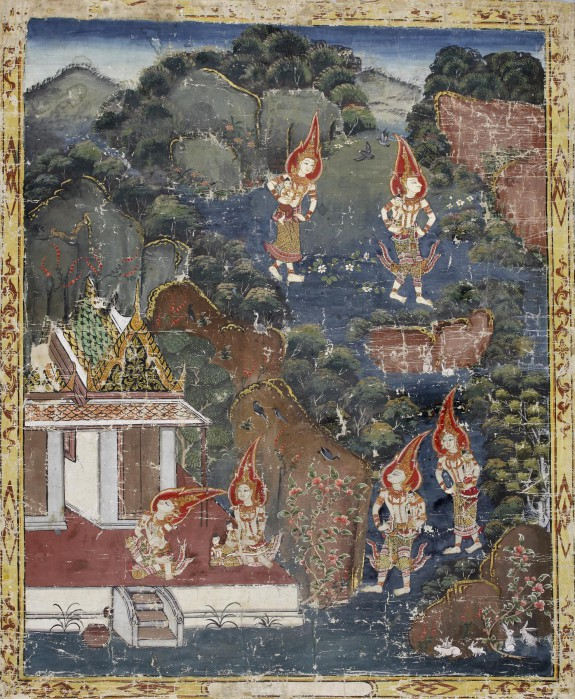Vessantara Jataka, Chapter 4 (The Forest Edge): Vessantara, Maddi, Jali, and Kanha