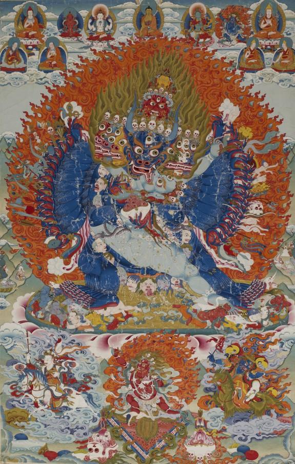Vajrabhairava with Vajravetali