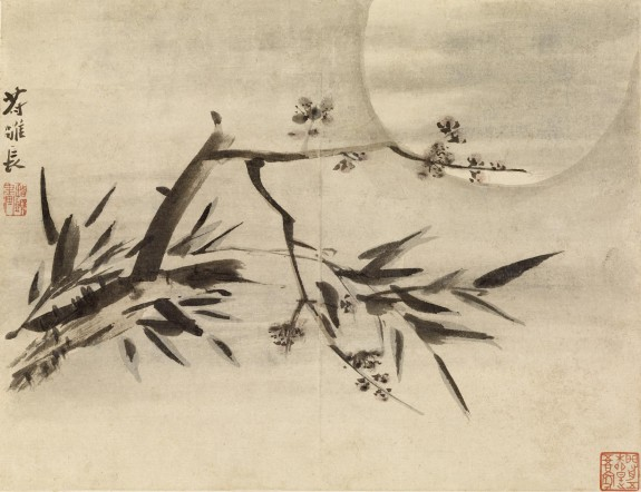 Bamboo, Plum Blossoms and Moon