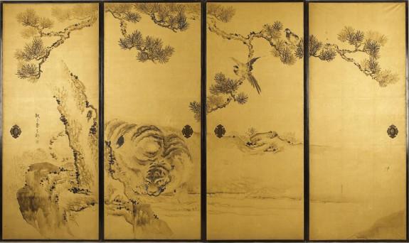 Fusuma: Tigers and Dragon