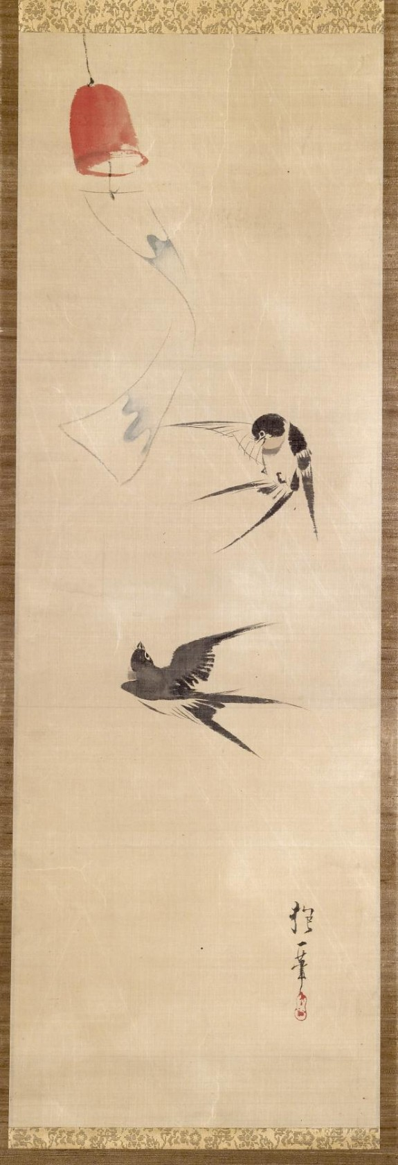 Two Swallows and Wind Bell