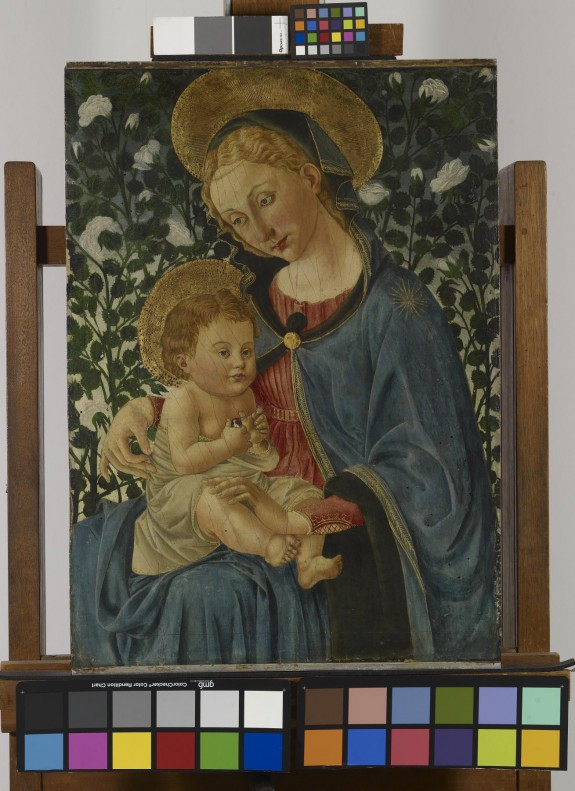 Virgin and Child with White Roses