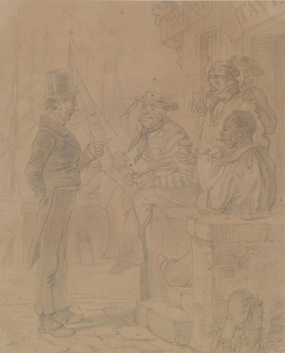 Man Talking To Sailors