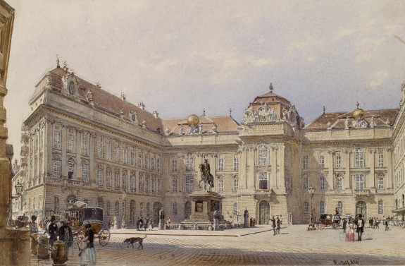 Facade of the National Library, Vienna